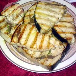 Zwaardvis met rozemarijn van de barbecue recept