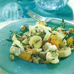 Bloemkool-bananensalade recept