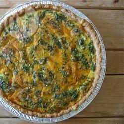 Spinazie, champignon en feta quiche recept