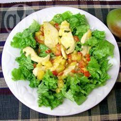 Warme kip en mangosalade recept