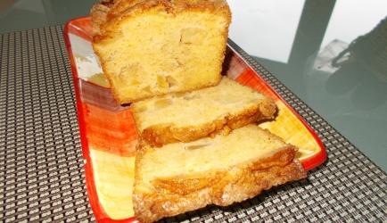 Verrukkelijke luchtige cake met gekaramelliseerde appeltjes ...