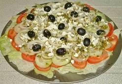 Tomaat komkommersalade met feta recept