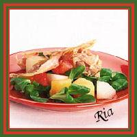 Meloensalade met krokante ham recept