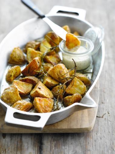 Recept 'geroosterde aardappelen met ganzenvet'