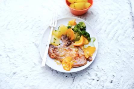 Karbonade met sinaasappeljus
