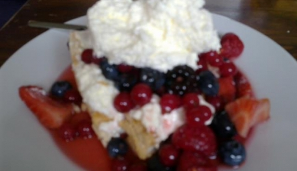 Pavlova van rode bosvruchten recept