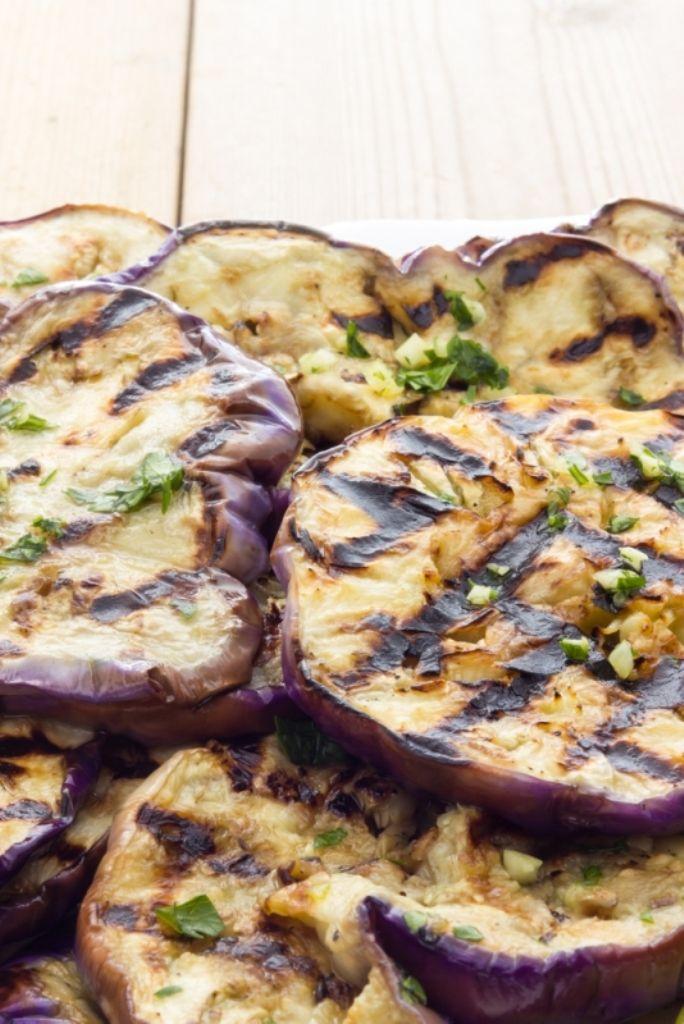 Recept 'carpaccio met gegrilde aubergine en mozzarella'