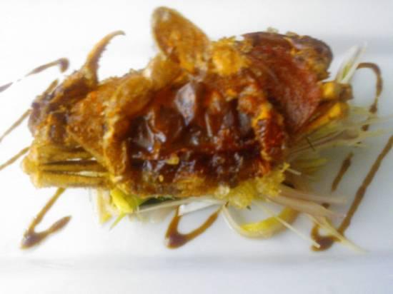 Softshells met limoengras(sereh) salade recept