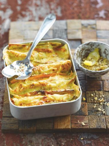 Recept 'lasagne met verloren groenten'