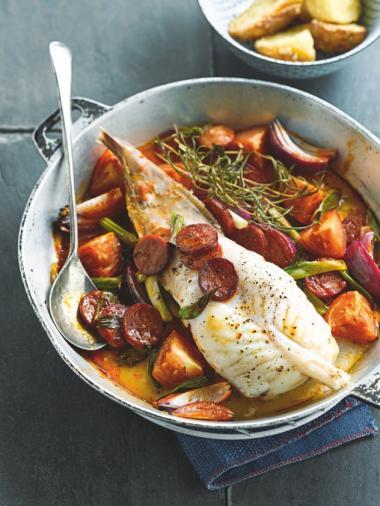 Recept 'zeeduivel met chorizo'