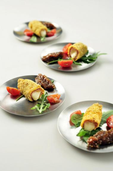 Recept 'krokantje van parmaham'