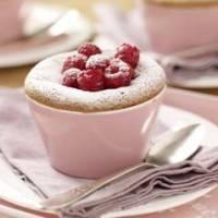 Cakejes van witte chocolade met frambozen recept