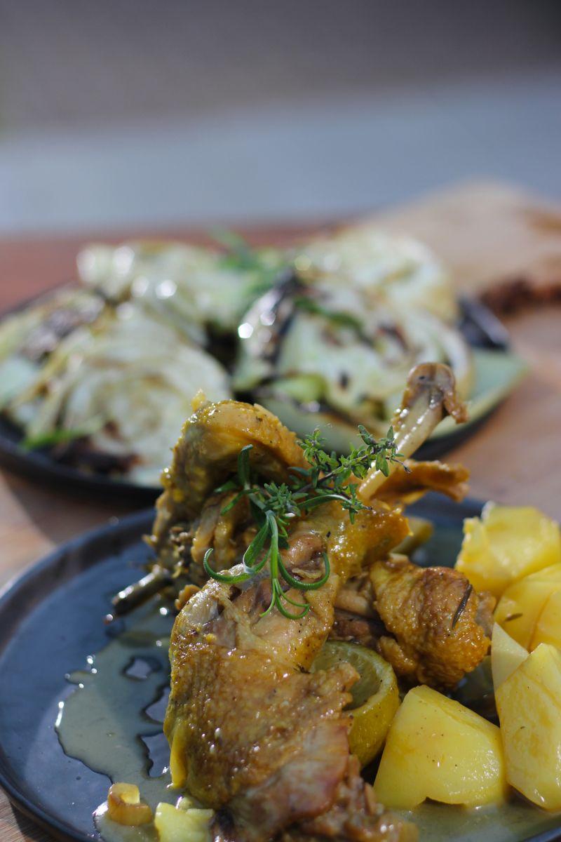 Recept 'stoofpotje van kip met limoncello '
