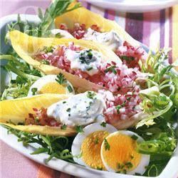 Witlof en rode bieten salade recept