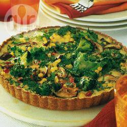 Broccoli-paprikaquiche recept