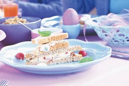 Sandwiches met eiersalade