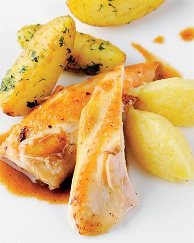 Recept 'kip met zelfgemaakte appelmoes'