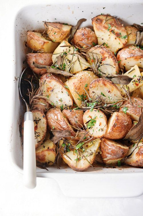 Recept 'krokant geroosterde aardappelen'