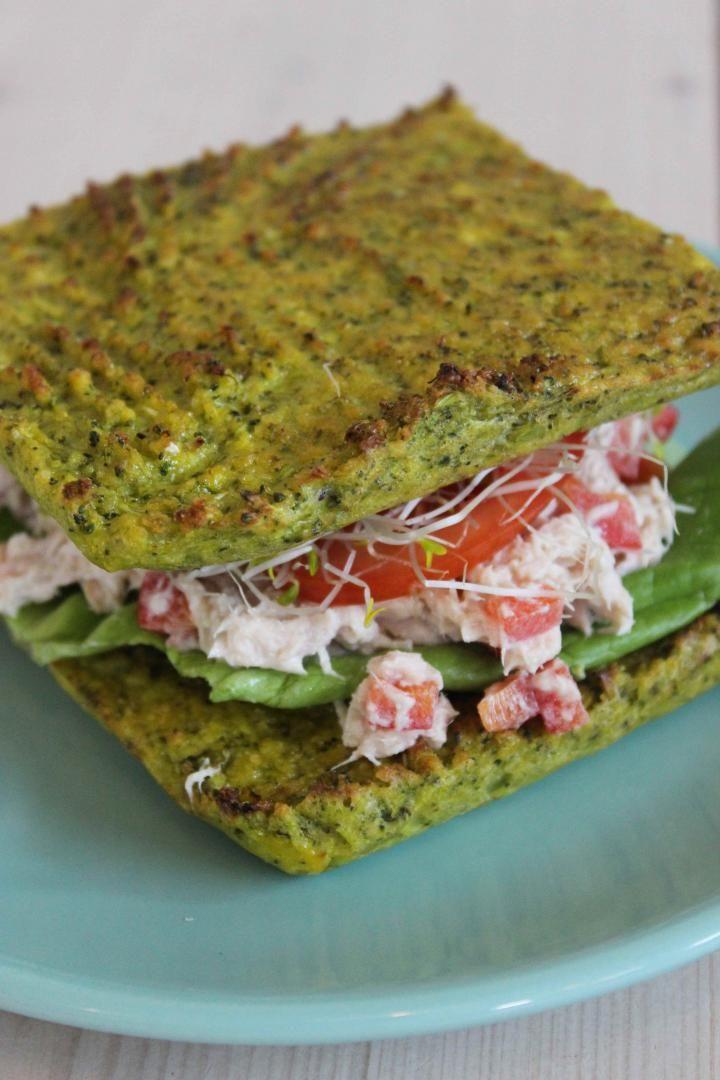 Recept 'gezond smoske met broccolibrood en tonijnsalade'