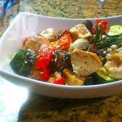 Griekse kip- en groentespiesjes recept