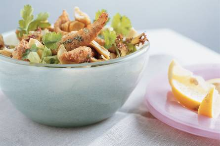 Salade met gemarineerde tilapiafilet