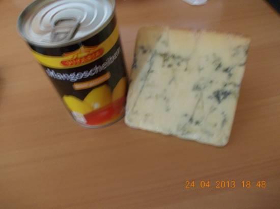Pasta met mango, gorgonzola, walnoten en zure room recept ...