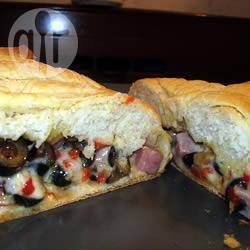 Picknick brood met ham en kaas recept