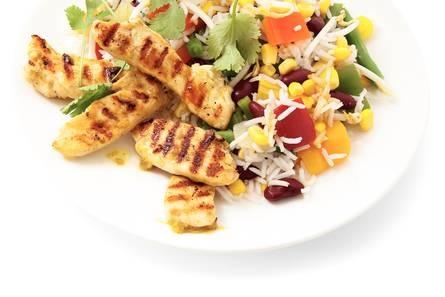 Curry van kip en groente