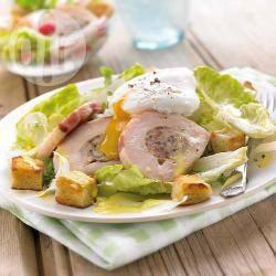 Heerlijk vullende caesar salade met kip recept