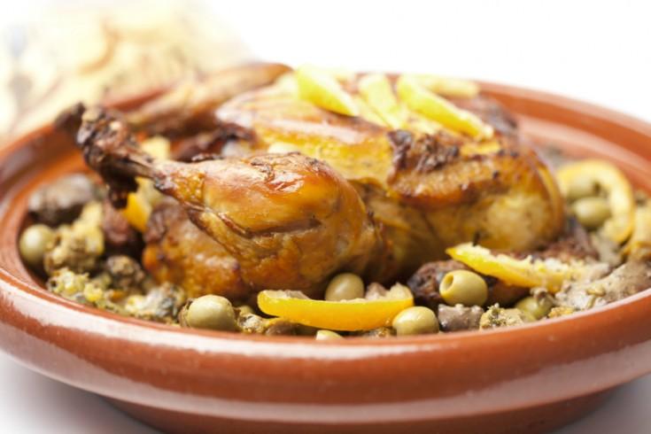 Marokkaanse tajine met kip en gekonfijte citroen