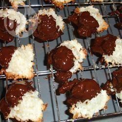 Kokosmakronen met witte chocolade recept