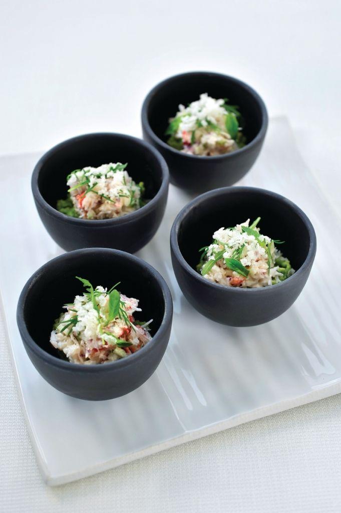 Recept 'krab met avocado en platte kaas'