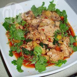 Szechuan (sichuan) gekruide kip (kipsalade) recept