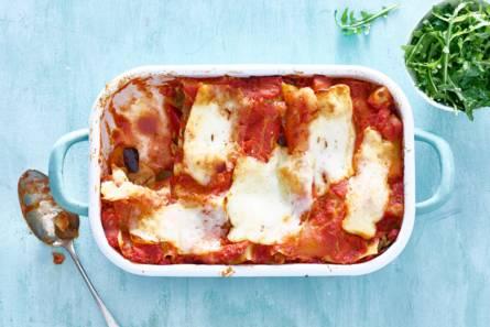 Rijkgevulde lasagne met grillkaas