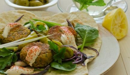 Falafel van kidneybonen en kikkererwten recept