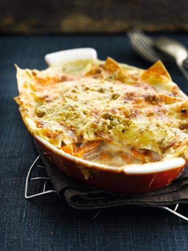 Recept 'lasagne van pompoen & lamsvlees'