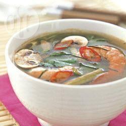 Thaise zure garnalensoep recept