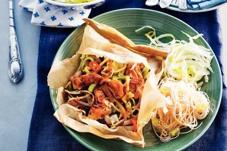 Chinese kip en papillotte met mihoen