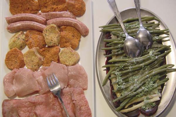 Gourmet met krielaardappelen en verse groentjes