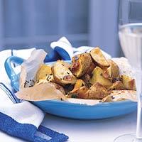 Knoflookaardappeltjes uit de oven. recept