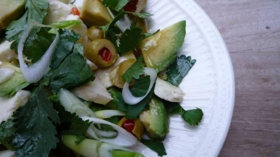 Avocado-mozzarella salade met koriander en olijven recept ...