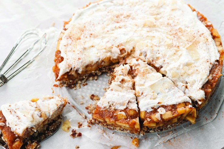 No-bake glutenvrije appeltaart (super easy!)