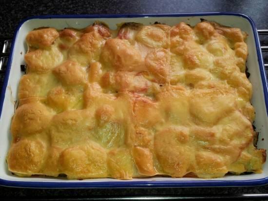 Aardappel-preischotel met tomaat en kaas recept