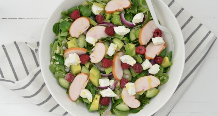 Fresh & easy: couscous salade met frambozen