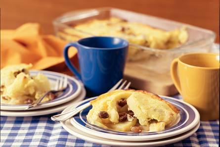 Bread & butter pudding met appel