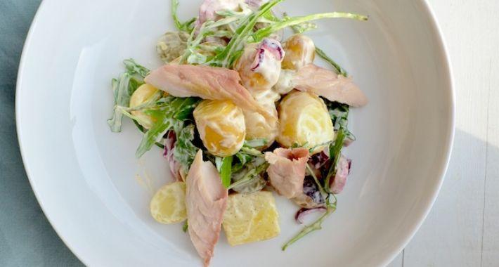 Aardappelsalade met makreel