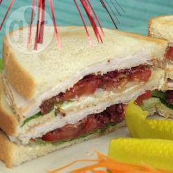 Klassieke club sandwich recept