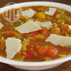 Paprika-linzensoep recept