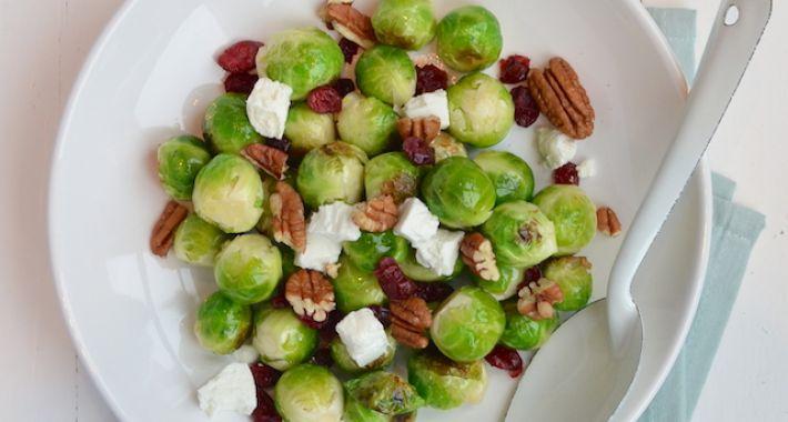 Gewokte spruitjes met cranberry's