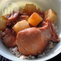 Honing-gember kip uit de slowcooker recept